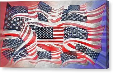Multi - Flag Abstract  Canvas Print by Steve Ohlsen