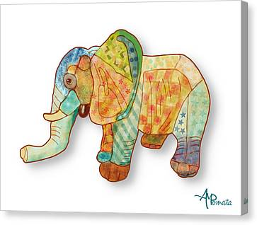 Multicolor Elephant Canvas Print by Angeles M Pomata