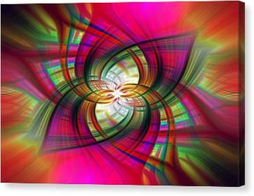 Multicolored Flower Twirl  Canvas Print