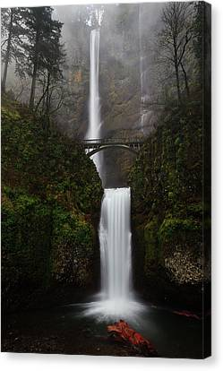 Water Scene Canvas Print - Multnomah Fall by Helminadia