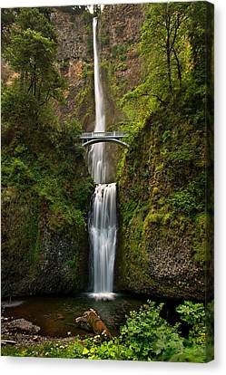 Multnomah Falls Canvas Print by Mary Jo Allen
