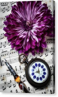 Mum And Pocket Watch Canvas Print by Garry Gay