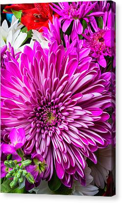 Mum Bouquet Canvas Print by Garry Gay