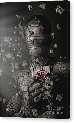 Mummy Wrapped Up In Fear Porn News Canvas Print by Jorgo Photography - Wall Art Gallery