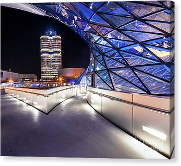 Canvas Print featuring the pyrography Munich - Bwm Modern And Futuristic by Hannes Cmarits