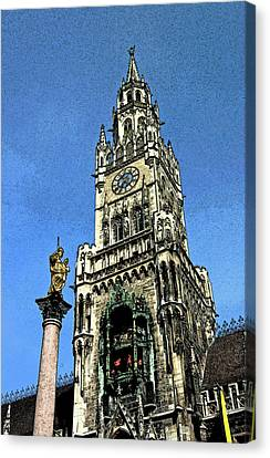 Munich City Hall Canvas Print by Paul Pobiak