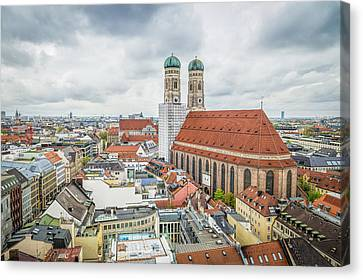 Munich Cityscape From City Hall Canvas Print by JJF Architects