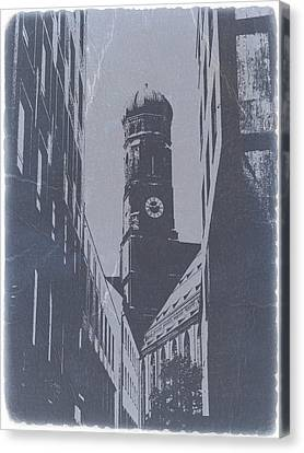 Munich Frauenkirche Canvas Print by Naxart Studio