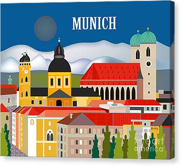 Munich Germany Horizontal Scene Canvas Print by Karen Young