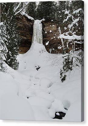 Munising Frozen Canvas Print by Michael Peychich