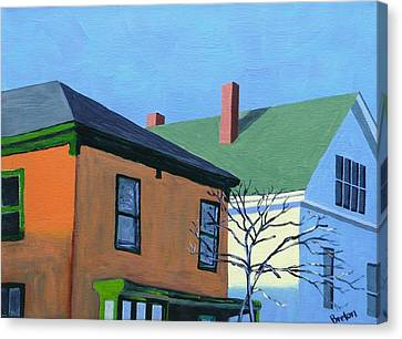 Munjoy Morning Canvas Print by Laurie Breton