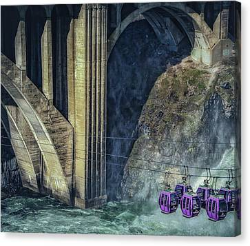 Munroe Canvas Print - Munroe Street Bridge by Dennis Herzog