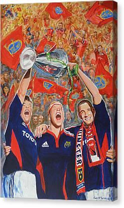 Munster Heiniken Cup Winners 2008 Canvas Print by Tomas OMaoldomhnaigh