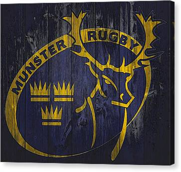 Munster Rugby Graphic Barn Door Canvas Print
