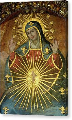 Mural Depicting The Virgin Mary Inside The Catedral De Cordoba Canvas Print by Sami Sarkis