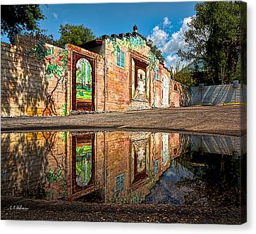 Mural Reflected Canvas Print by Christopher Holmes