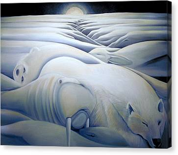 Mural  Winters Embracing Crevice Canvas Print by Nancy Griswold