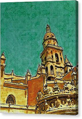 Murcia Cathedral Canvas Print by Sarah Loft