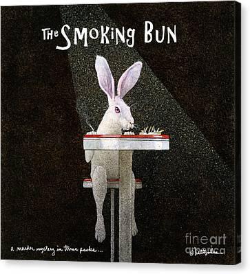 Murder Mystery In Three Packs... The Smoking Bun... Canvas Print