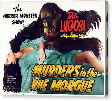 Murders In The Rue Morgue, The Girl Canvas Print by Everett