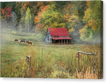 Murphy Horse Stable Canvas Print by Lori Deiter