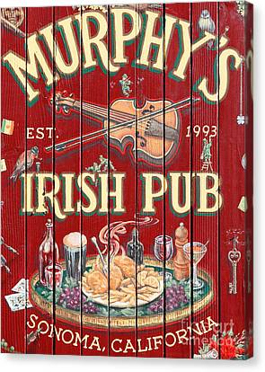 Bayarea Canvas Print - Murphy's Irish Pub - Sonoma California - 5d19290 by Wingsdomain Art and Photography
