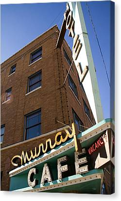Murray Cafe And Hotel Canvas Print by Rachel Barner