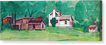 Murray Hill Watercolor Canvas Print by Fred Jinkins