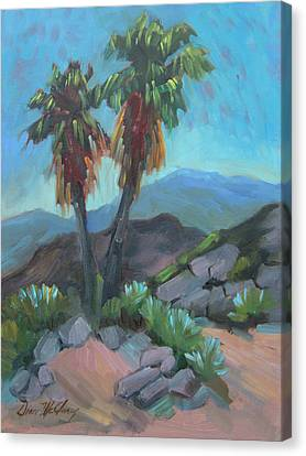 Canvas Print featuring the painting Murray Trail Andreas Canyon by Diane McClary