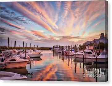 Murrells Inlet Sunset 2 Canvas Print by Mel Steinhauer