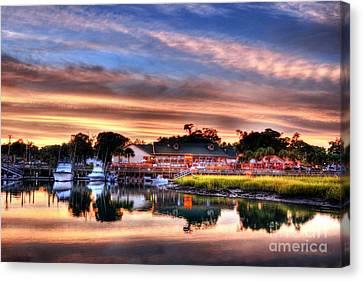 Murrells Inlet Sunset 3 Canvas Print by Mel Steinhauer