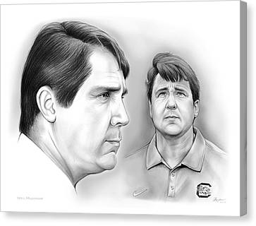 Carolina Canvas Print - Muschamp Gamecocks by Greg Joens