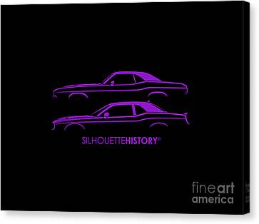 Muscle Pony Silhouettehistory Canvas Print by Gabor Vida