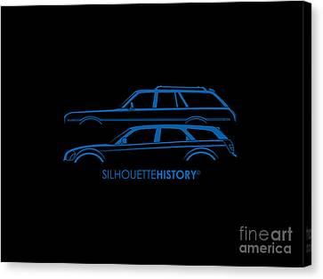 Muscle Wagon Silhouettehistory Canvas Print