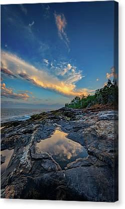 Muscongus Bay Reflections Canvas Print by Rick Berk