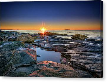 Downeast Canvas Print - Muscongus Bay Sunrise by Rick Berk