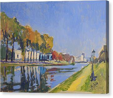 Musee La Boverie Liege Canvas Print by Nop Briex