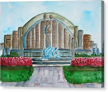 Museum Center Canvas Print by Elaine Duras