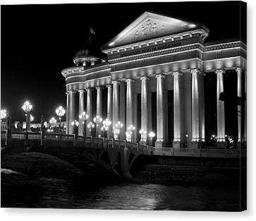 Museum Of Archaeology Canvas Print by Rae Tucker