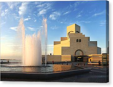 Museum Of Islamic Art Doha Qatar Canvas Print by Paul Cowan