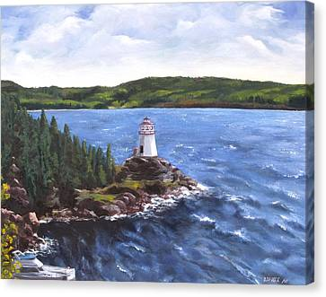 Musgravetown Lighthouse Canvas Print by Diane Daigle