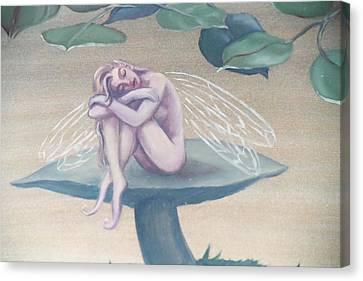 Mushroom Faerie Canvas Print by Suzn Smith