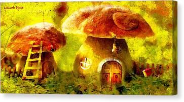 Mushroom House - Pa Canvas Print