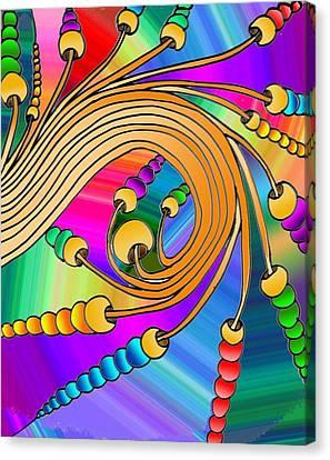 Mushroom Swirl Canvas Print by Alexander Holmes