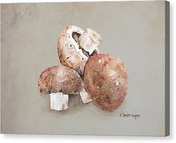 Mushrooms Canvas Print by Arline Wagner