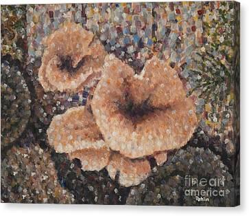 Mushrooms / Squirrel Canvas Print