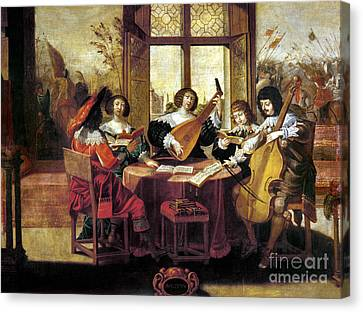 Music, 17th Century Canvas Print by Granger