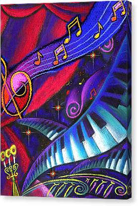 Music And Harmony Canvas Print by Leon Zernitsky