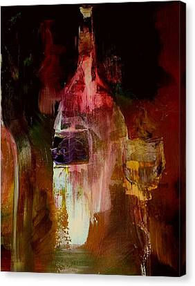 Wine Canvas Print - Music And Wine by Lisa Kaiser