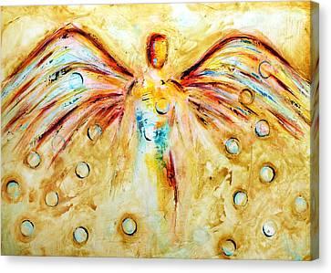 Music Angel Canvas Print by Ivan Guaderrama